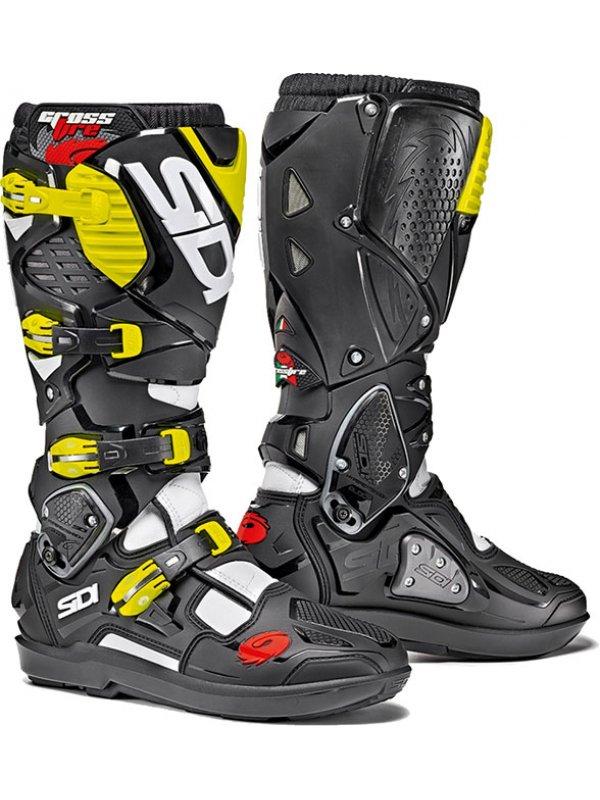 Ботуши Sidi Crossfire 3 SRS White/Black/Yellow Boots