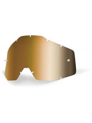 Слюда за очила 100% Racecraft/Accuri/Strata - златна огледална