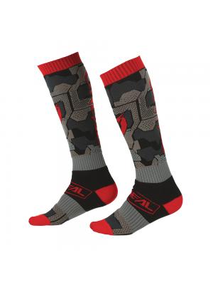 Термо чорапи O'NEAL PRO MX CAMO V.22 BLACK/RED