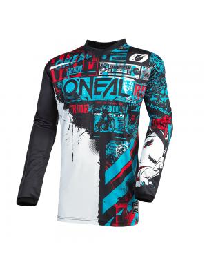 Мотокрос блуза O'NEAL ELEMENT RIDE BLACK/BLUE