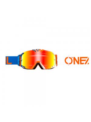 Мотокрос очила O'NEAL B-30 DUPLEX BLUE/WHITE/ORANGE - RADIUM