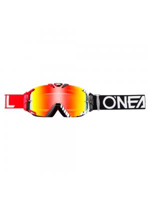 Мотокрос очила O'NEAL B-30 DUPLEX BLACK/RED/WHITE - RADIUM