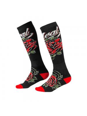Термо чорапи O'NEAL PRO MX ROSES BLACK/RED