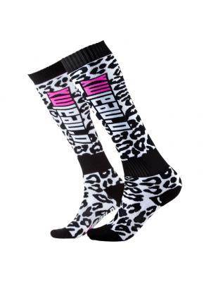 Термо чорапи O'NEAL Pro MX WILD Black/White/Pink