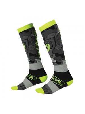 Термо чорапи O'NEAL PRO MX CAMO V.22 GRAY/NEON YELLOW