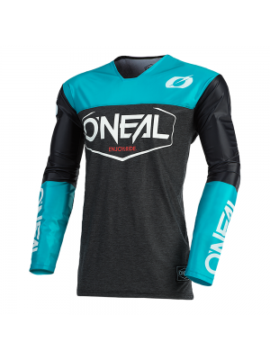 Мотокрос блуза O'NEAL MAYHEM HEXX BLACK/TEAL 2021