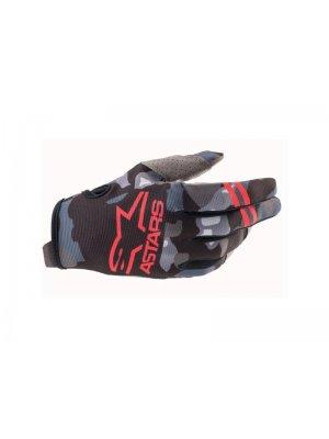 Ръкавици RADAR GLOVES GRAY CAMO RED FLUO ALPINESTARS