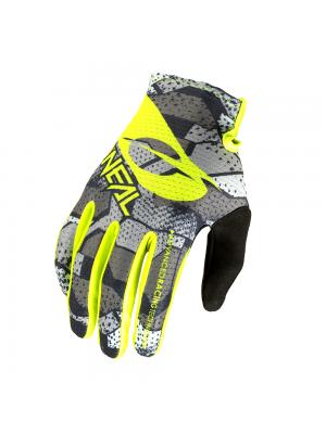 Мотокрос ръкавици O'NEAL MATRIX CAMO V.22-GRAY/NEON YELLOW