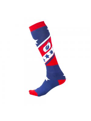 Термо чорапи O'NEAL Pro MX STARS RED/BLUE