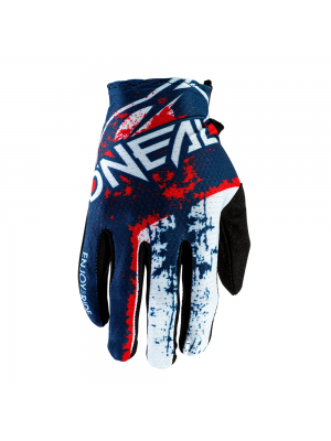 Мотокрос ръкавици O'NEAL MATRIX IMPACT BLUE/RED