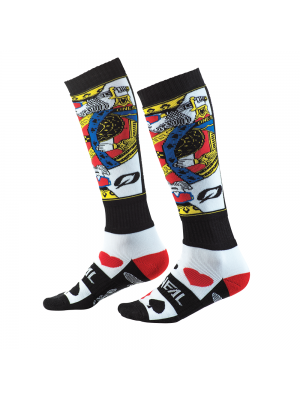 Термо чорапи O'NEAL PRO MX KINGSMEN WHITE/BLACK/RED 2020