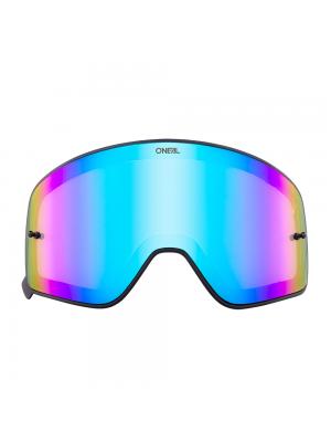 Магнитна плака за очила O'NEAL B-50 BLACK FRAME RADIUM/BLUE